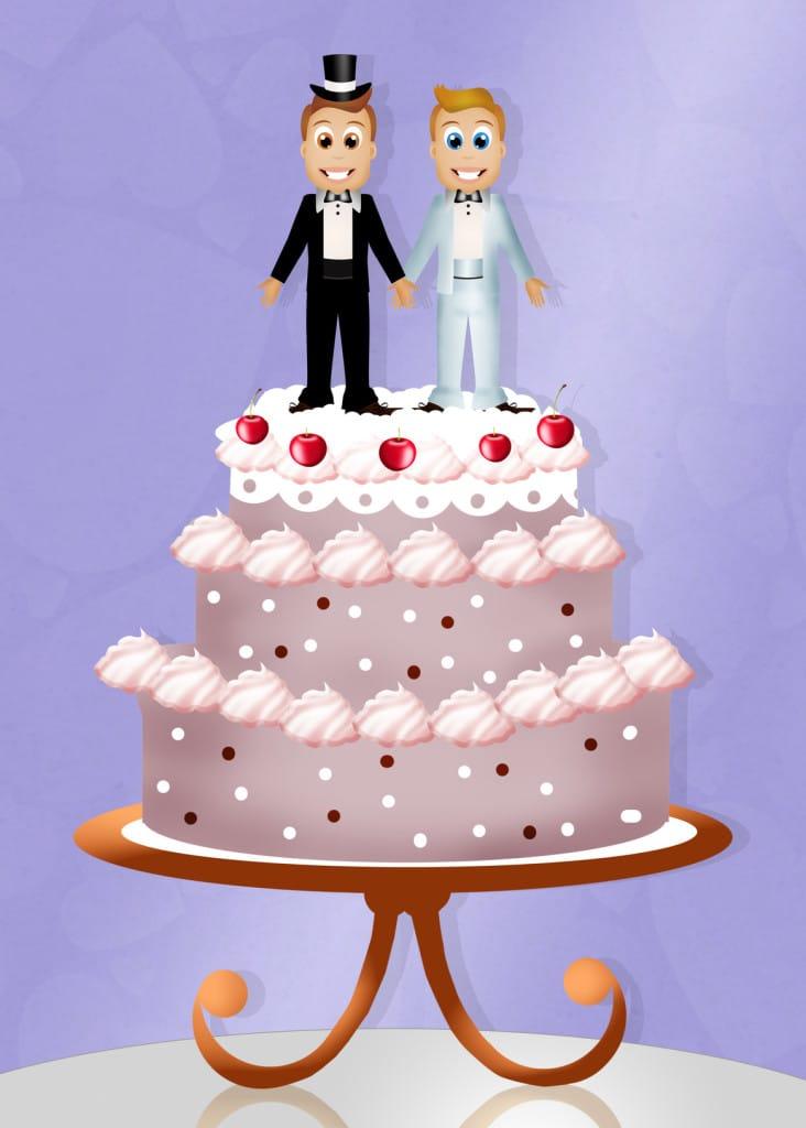 wedding cake for gay couple